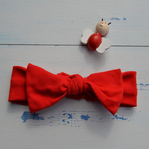 Plain Red Rabbit Ear Hairband