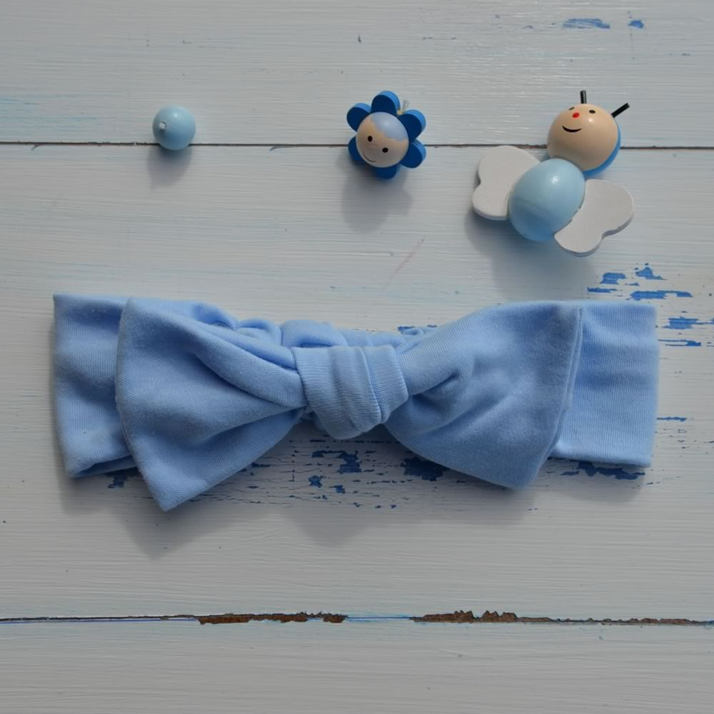 Pale Blue Rabbit Ear Hairband