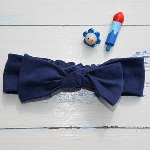 Plain Navy Rabbit Ear Hairband