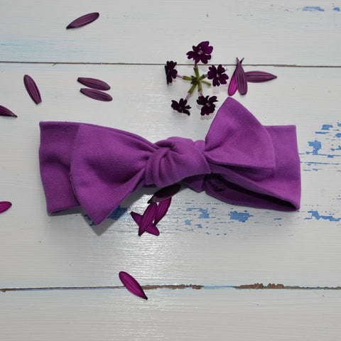 Plain Purple Rabbit Ear Hairband