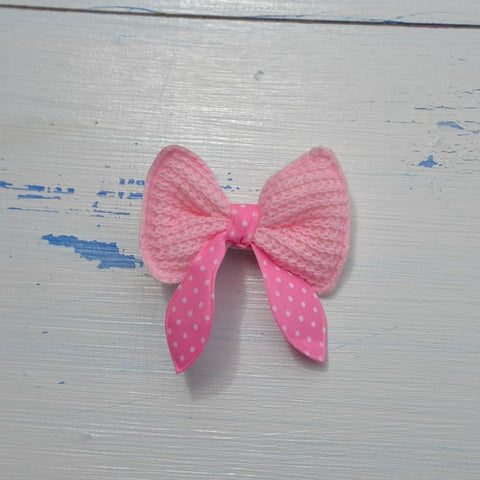 Pink Bow Hairclip