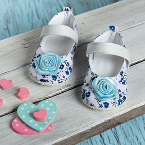 Blue Sandals with Blue Flower