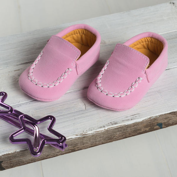 Light Pink Moccasin Shoes