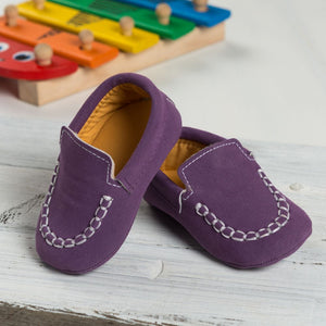 Purple Moccasin Shoes