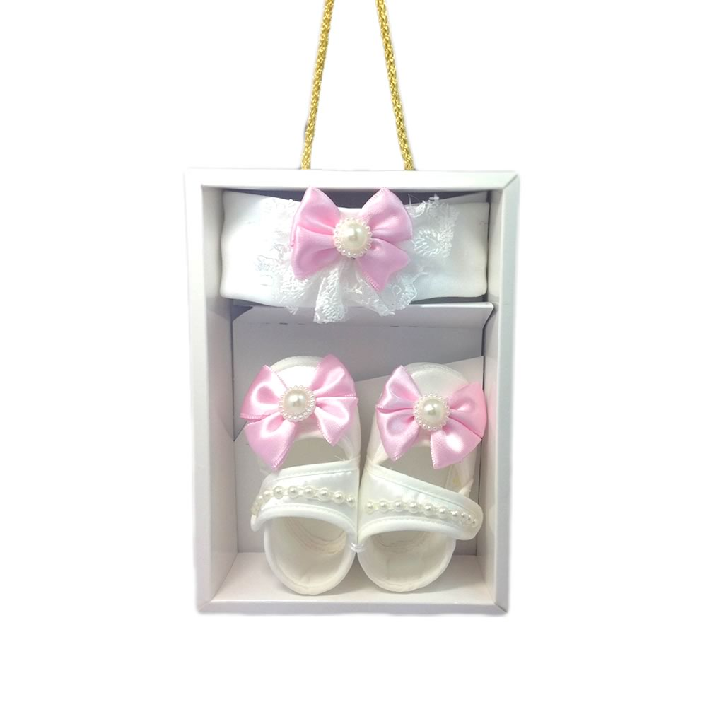 Pearly Pink Funky Giraffe Collection - Matching Shoes & Headband