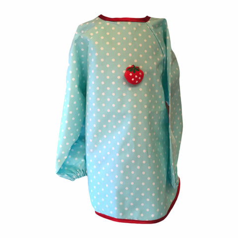 Pale Blue Dotty Strawberry Apron