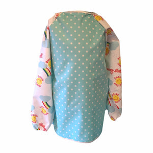 Pale Blue Dotty Smiley Face Apron