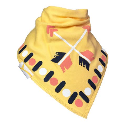 Medium Yellow Arrows Bandana Bib