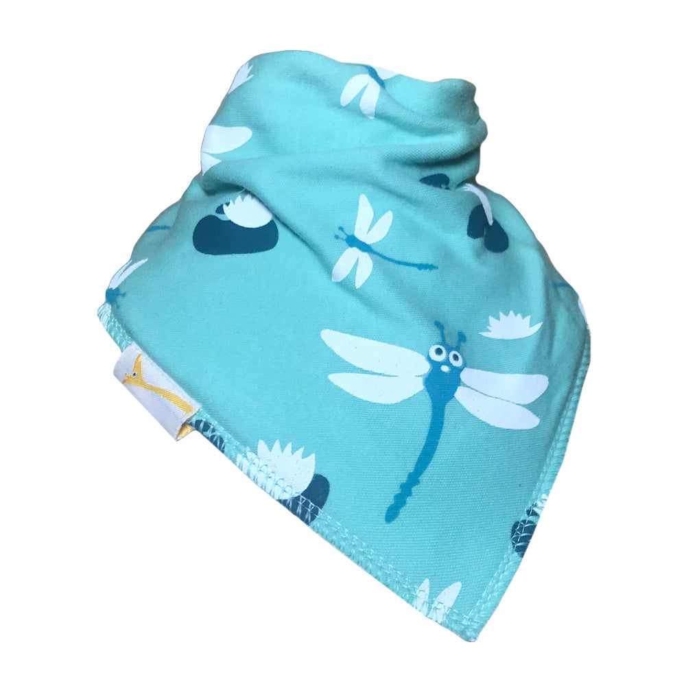 Light Blue Dragonflies Bandana Bib