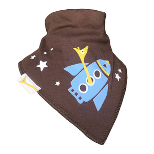 Brown George in a Rocket Bandana Bib