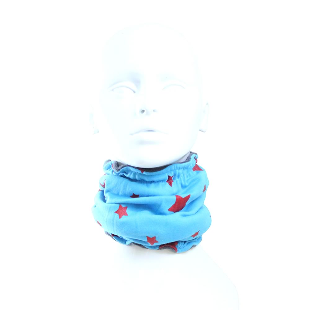 Red & Blue Stars on Grey Reversible Funky Giraffe Scood