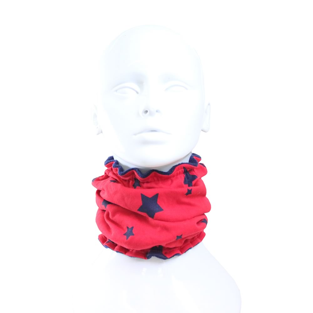 Red & Navy Stars on Navy Reversible Funky Giraffe Scood