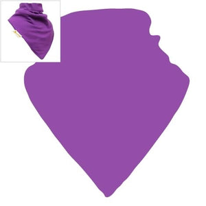 Personalised Purple Plain XL Bandana Bib