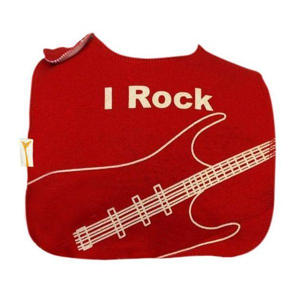 Red & White Rock Square Bib