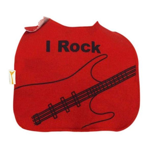 Red & Black Rock Square Bib