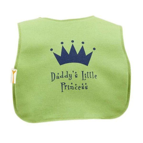 Green Daddy's Little Princess Square Bib