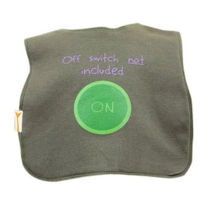 Green Off Switch Square Bib