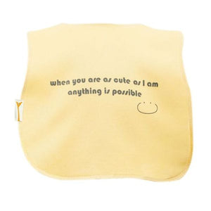 Yellow Anything Is Possible Square Bib