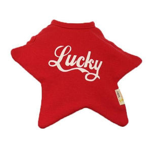Red Lucky Star Bib