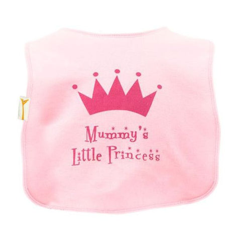 Pink Little Princess Square Bib