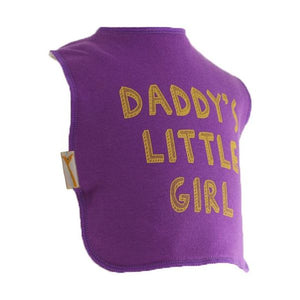 Purple Daddy's Girl Square Bib
