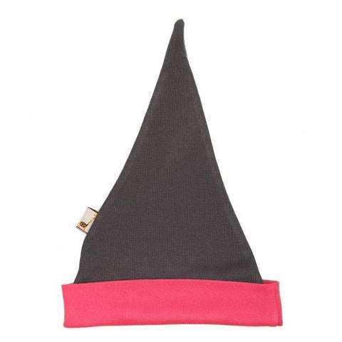 Grey & Pink Pointy Hat