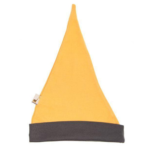 Yellow & Grey Pointy Hat