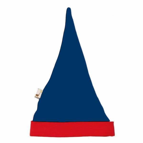 Navy & Red Pointy Hat