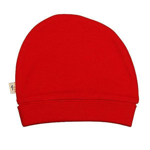 Red Plain Round Hat