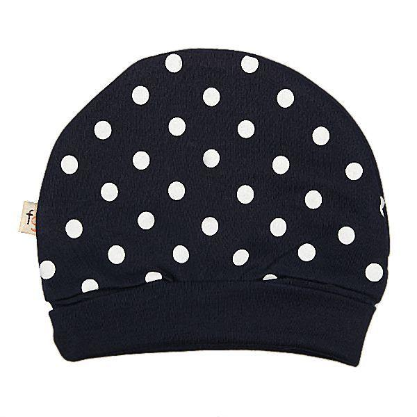 Blue & White Spots Round Hat