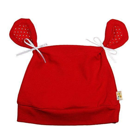 Red Plain All About Ears Hat