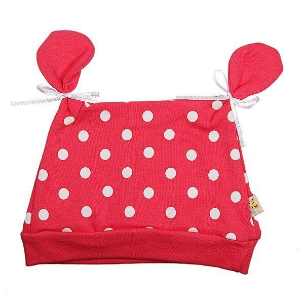 Pink & White Spots All About Ears Hat