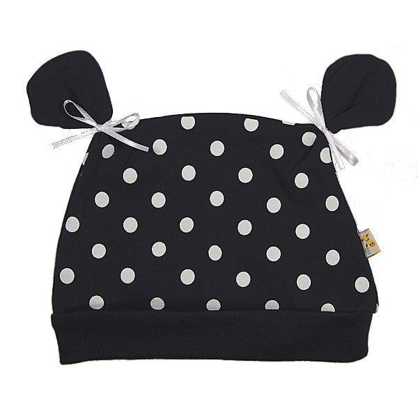 Navy Blue & White Spots All About Ears Hat