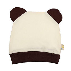 Cream & Brown Funky Bear Hat