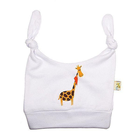 White Funky Giraffe Tied Top Hat