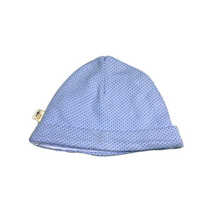 Light Blue Coffee Spots Round Hat