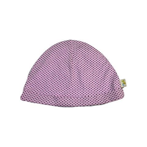 Light Pink & Small Brown Spots Round Hat