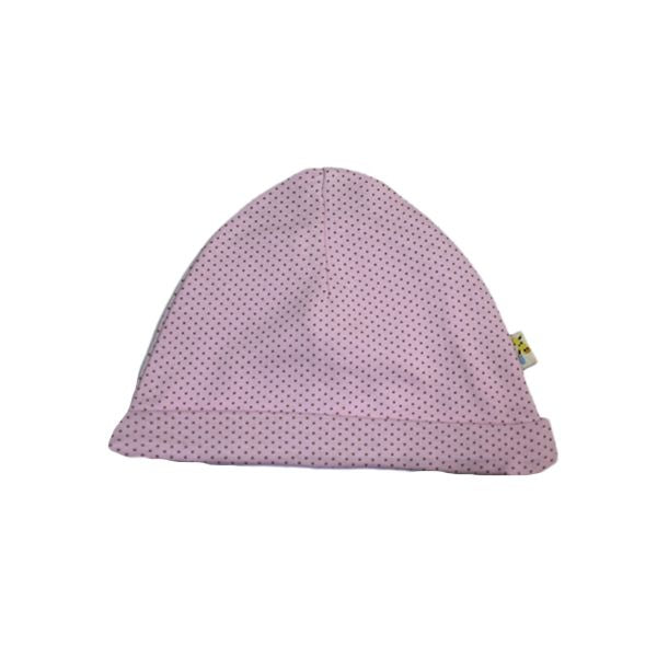 Light Pink Spotty Round Hat