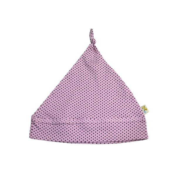 Light Pink & Small Brown Spots Pointy Hat