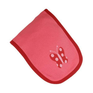 Pink & Red Butterfly Burp Cloth