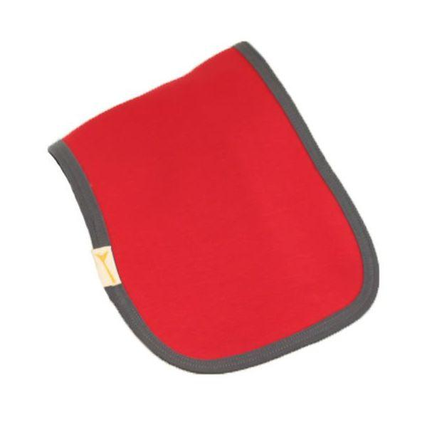 Red & Grey Trim Plain Burp Cloth