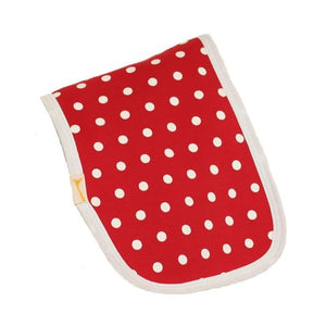 Red & White Dotty Fun Burp Cloth