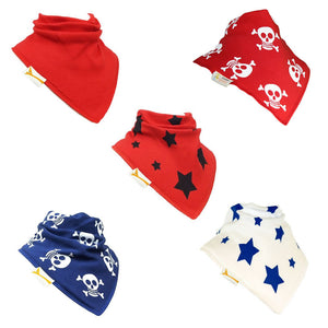 Pirates Set of Funky Giraffe Bandana Bibs (Set of 5)