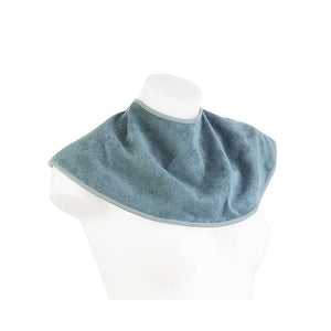 Slate Blue 2 in 1 Bamboo Fabric Bib and Burp Cloth