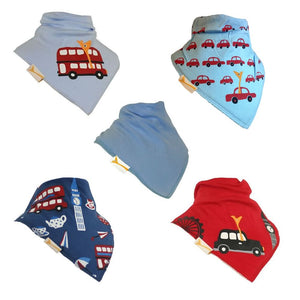 The London Collection Funky Giraffe Bandana Bibs (Set of 5)