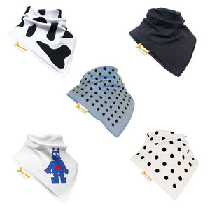 Cool Boys Set of Funky Giraffe Bandana Bibs (Set of 5)