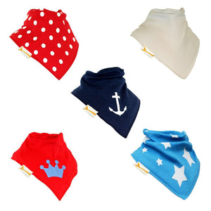 Royal Greenwich Set of Funky Giraffe Bandana bibs (Set of 5)