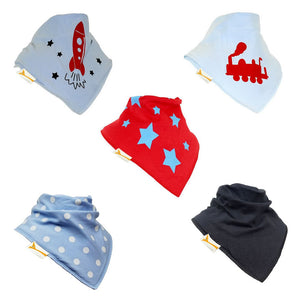 Daddies Boy Set of Funky Giraffe Bandana Bibs (Set of 5)