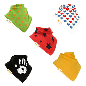 Mixed Up Set of Funky Giraffe Bandana Bibs (Set of 5)