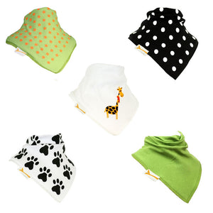 Giraffe Set of Funky Giraffe Bandana Bibs (Set of 5)